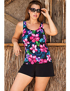 Beach Belle Pink Paradise Falls Shortini by Beach Belle