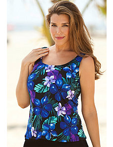Plum Paradise Falls Tankini Top by Beach Belle