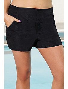 Black Cargo Short by Beach Belle
