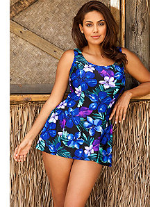 Plum Falls Swimdress by Beach Belle