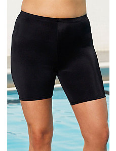 Chlorine Resistant! Black Bike Short by Aquabelle