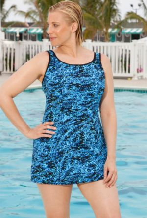 Aquabelle Blue Animal Princess Seam Dress