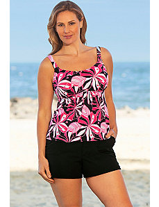 Tropical Pink Flared Cargo Shortini by Beach Belle