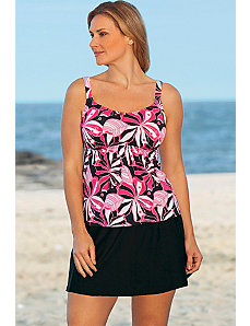 Tropical Pink Flared Skirtini by Beach Belle