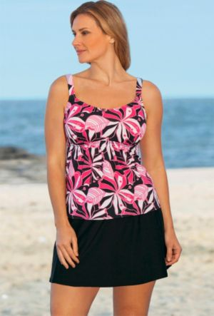 Tropical Pink Flared Skirtini