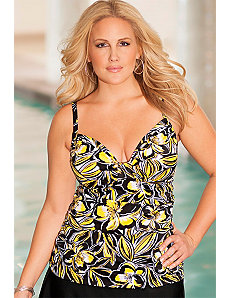 Buttercup Tab Front Tankini Top by b. belle