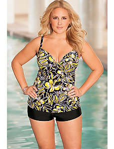 b. belle Buttercup Plus Size Tab Boy Shortini by b. belle