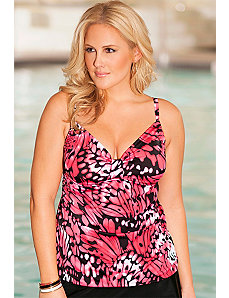 Butterfly Tab Front Tankini Top by b. belle