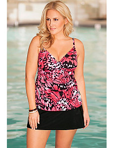 Butterfly Tab Front Tankini Skirtini by b. belle