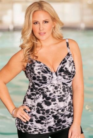 Tameless Tab Front Tankini Top