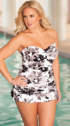 Villa d'Este Ruffle Bottom Swimdress