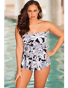 Top Palm Triple Tier Tankini by Penbrooke
