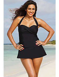 Eclipse Twist Front Swimdress by Infinity Blu