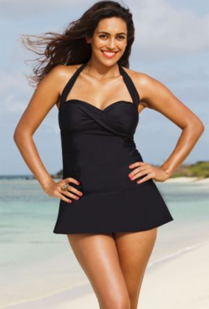 Eclipse Twist Front Swimdress