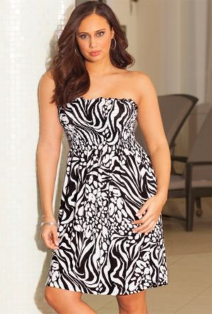 Zebra Splash Smocked Dress