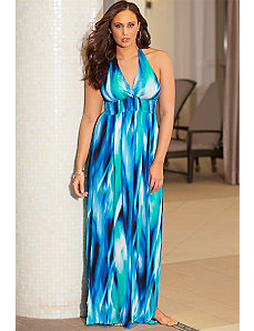 Mediterranean Halter Maxi Dress by b. belle