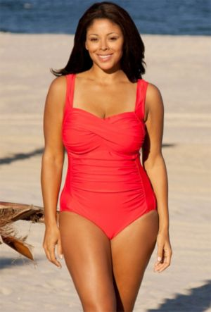 Red Twist Front Swimsuit
