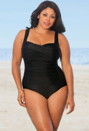 Black Twist Front Swimsuit