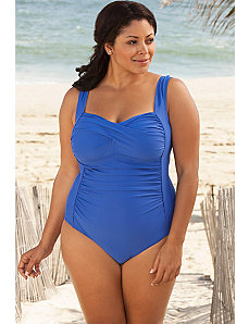 Royal Twist Front Swimsuit by Delta Burke