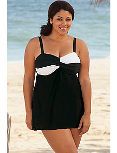 White Twister Swimdress by Delta Burke
