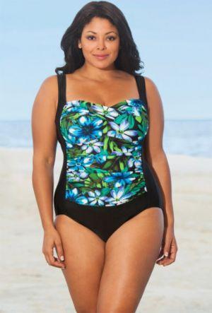 Blue Kokimo Twist Front Swimsuit