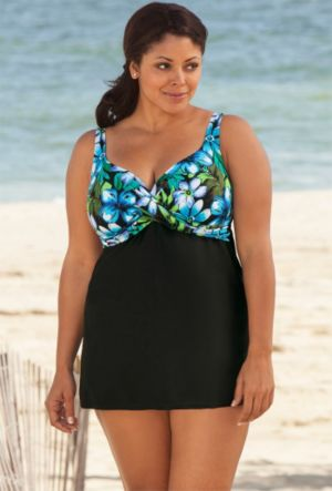 Blue Kokimo Draped Swimdress