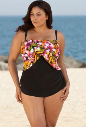 Pink Kokimo Sarong Front Swimsuit