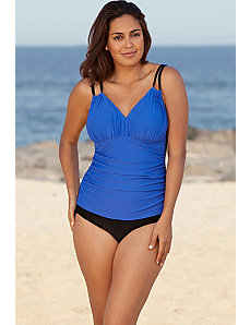 Royal Solids Shirred Swimsuit by Delta Burke