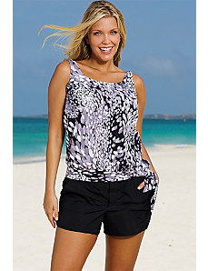 White Dew Drops Blouson Shortini by Beach Belle