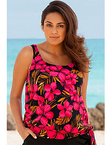 Jamaican Sunset Blouson Tankini Top by Beach Belle