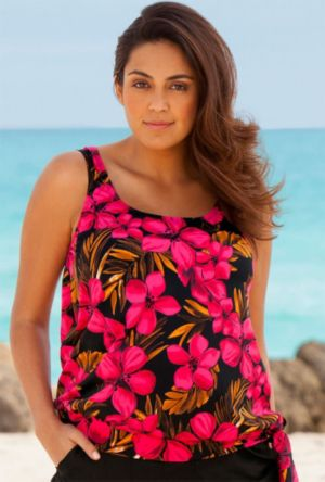 Jamaican Sunset Blouson Tankini Top