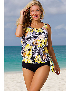 Everlasting Blouson Tankini by Beach Belle