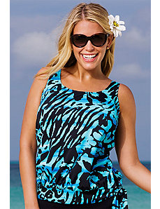 Abstract Rainforest Tankini Top by Beach Belle