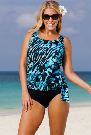 Rainforest Blouson Tankini