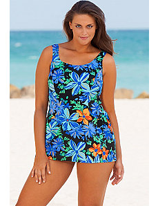 Tropic Garden Princess Seam Swimdress by Beach Belle