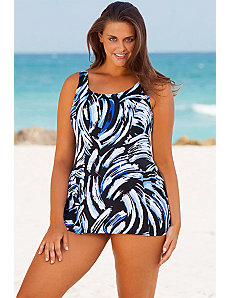 Whirlpool Princess Seam Swimdress by Beach Belle