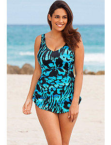 Rainforest Sarong Front Swimsuit by Beach Belle