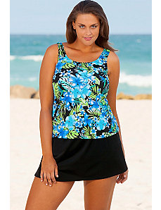 Blue Happy Tropical Skirtini by Beach Belle