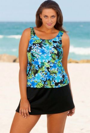 Blue Happy Tropical Skirtini