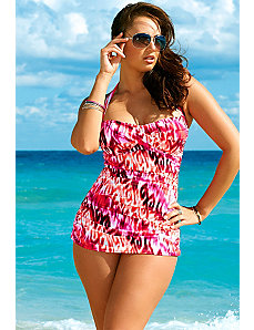 Swim Sexy Pink Color Daze Plus Size Glam Swimsuit by Swim Sexy