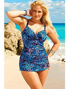 Purple Animal Chic Sarong Front by Swim Sexy