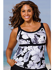 White Casablanca Empire Tankini Top by Beach Belle