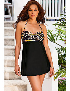 Tiger Bandeau/Halter Swimdress by Swim Sexy