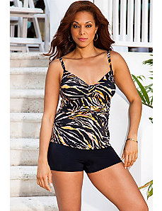 Tiger Tab Front Boy Shortini by Swim Sexy