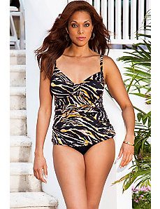 Tiger Tab Front Tankini by Swim Sexy