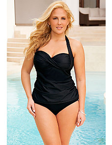 Eclipse Twist Front Halter Tankini by Swim Sexy