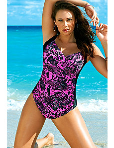 Stingray Twist Front Swimsuit by Swim Sexy