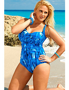 Swim Sexy Strobe Twist Front Swimsuit by Swim Sexy