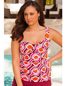 Retro Twist Front Tankini Top by Swim Sexy