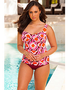 Retro Twist Front Tankini by Swim Sexy